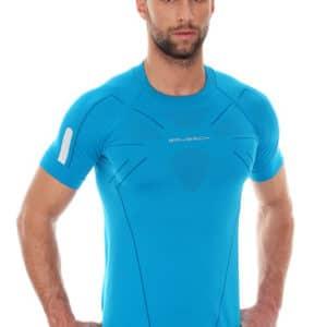 Brubeck Mens Athletic Short Sleeve Top Azure Blue