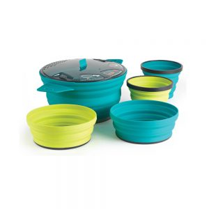 Sea to Summit X-Set 31 5 Piece 2 Person Cook and Dine 2.8L X-Pot 2x X-Bowls 2x X-Mugs