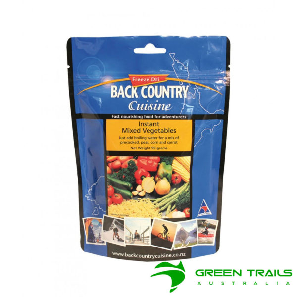 Back Country Instant Mixed Vegetables Freeze Dried Food
