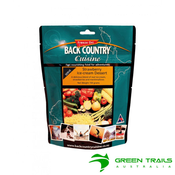 Back Country Strawberry Ice Cream Dessert Double Freeze Dried Food