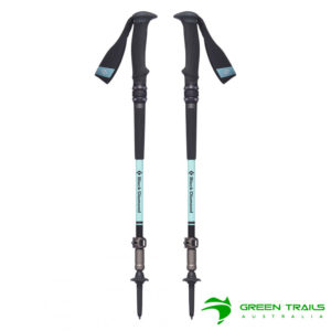 Black Diamond Womens Trail Pro Shock Trekking Poles S19 T-Pole Alpine Lake 95-125cm