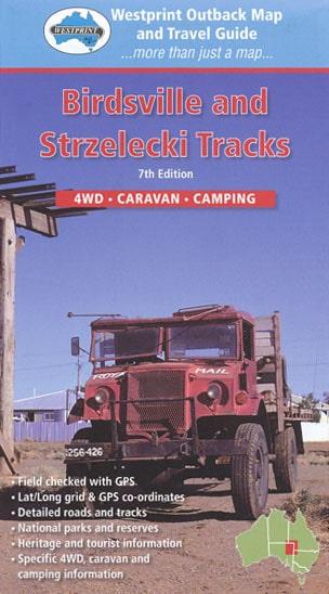 Birdsville and Strzelecki Tracks 4WD Caravan Camping Map - Westprint