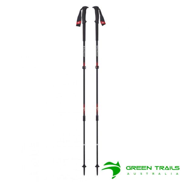 Black Diamond Trail Pro Trekking Poles S19 T-Pole Fire Red 105-140cm