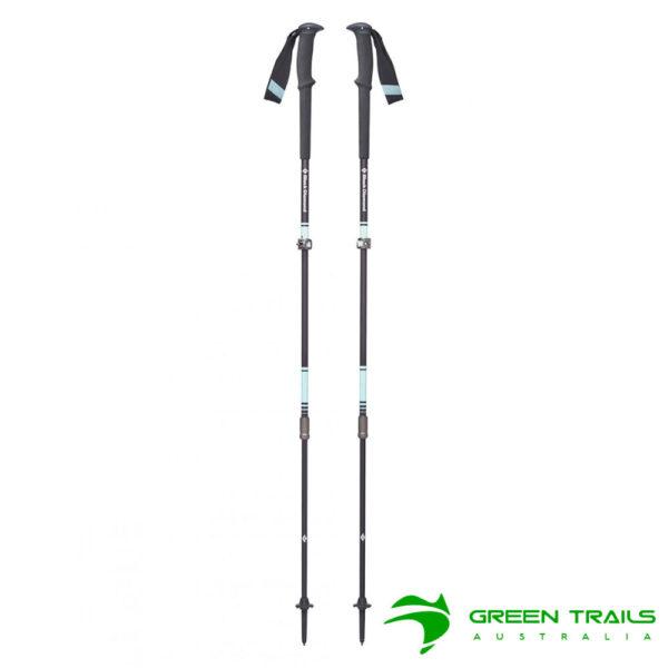 Black Diamond Womens Trail Pro Trekking Poles S19 T-Pole Aegean 95-125cm