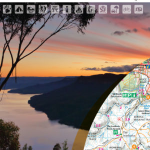 Blue Mountains South Outdoor Recreation Guide Map - SV Maps