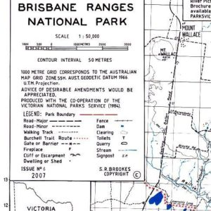 Brisbane Ranges National Park Map - Bush Maps Victoria