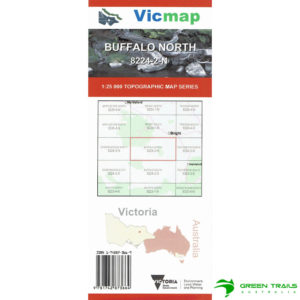 Vicmap Buffalo North 8224-2-N Map 25K Topographical Map 2nd Edition 2016