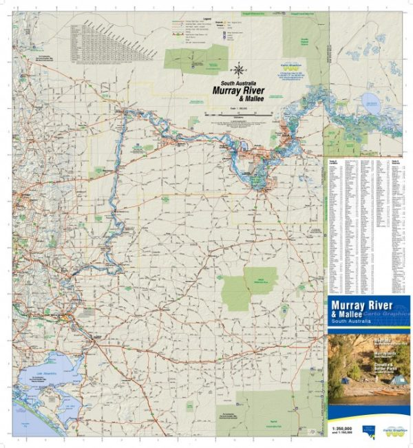 Map South Australia.Murray River And Mallee South Australia Map