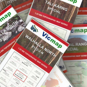 Vicmap 1:25,000 Topographical Map Series - 46 Map Variations