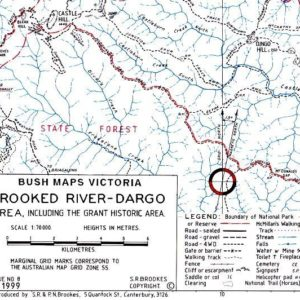 Crooked River - Dargo Area including the Grant Historic Area Map
