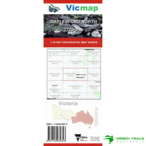 Vicmap Daylesford North 7723-3-N Map 25K Topographical Map 3rd Edition 2017
