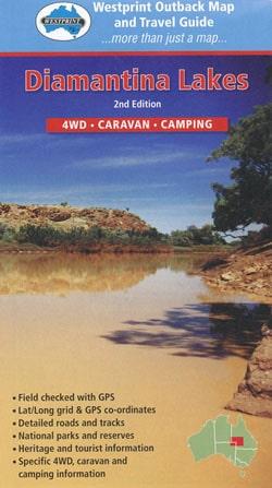 Diamantina Lakes 4WD Caravan Camping - Westprint Outback Map