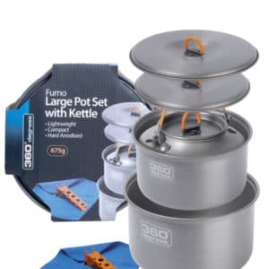 360 Degrees Hard Anodized Furno Large Pot Set with Kettle 675g