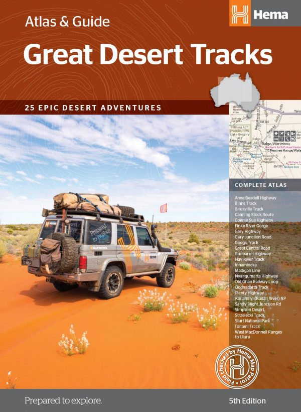 Great Desert Tracks Atlas and Guide 5th Edition - Hema