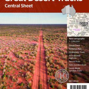Great Desert Tracks Central Sheet Map - Hema