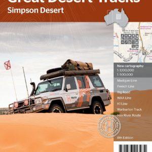 Great Desert Tracks Simpson Desert Sheet Map - Hema