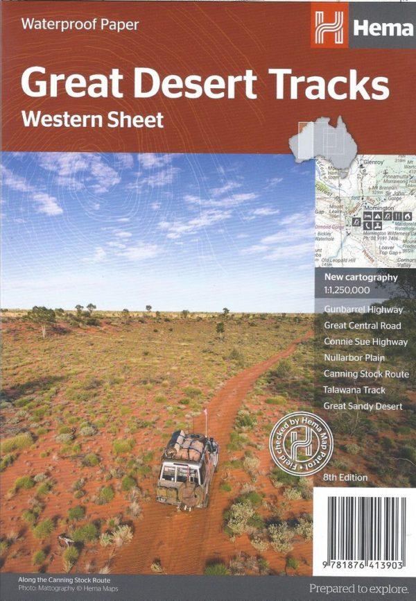 Great Desert Tracks Western Sheet Map - Hema