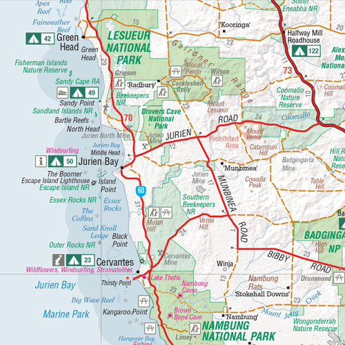 4wd Map Of Australia.Perth And The South West 4wd And Camping Escapes Hema