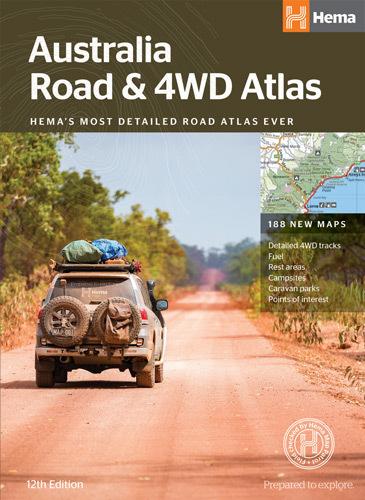 Australia Road and 4WD Atlas - Perfect Bound 12th Edition - Hema