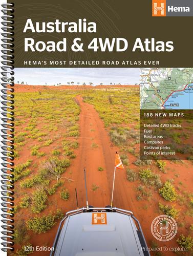 Australia Road and 4WD Atlas - Spiral Bound