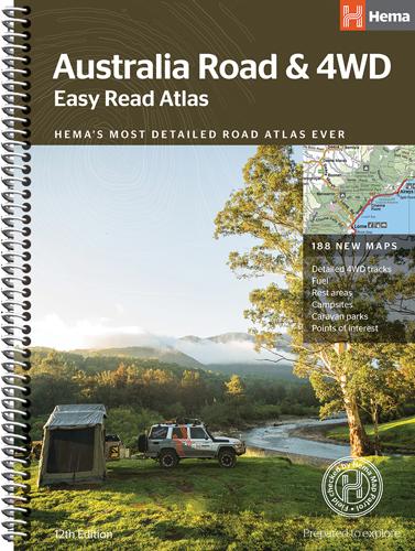 Australia Road and 4WD Easy Read Atlas - 12th Edition - Hema