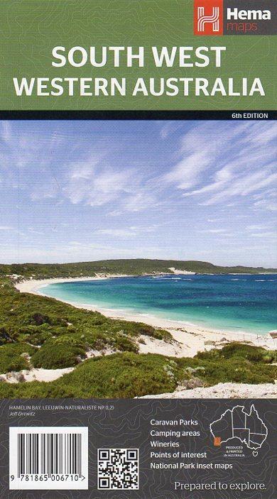 South West Western Australia Map - 6th Edition Hema Maps