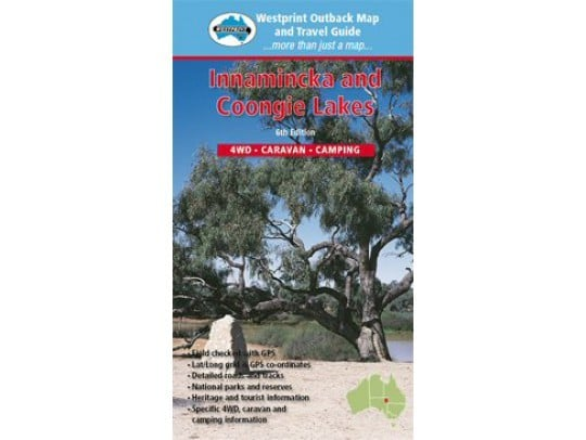 Innamincka and Coongie Lakes 4WD Caravan Camping - Westprint Outback Map