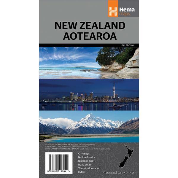 New Zealand Aotearoa Map - 6th Edition - Hema