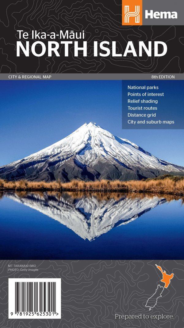 New Zealand North Island Map - 8th Edition - Hema