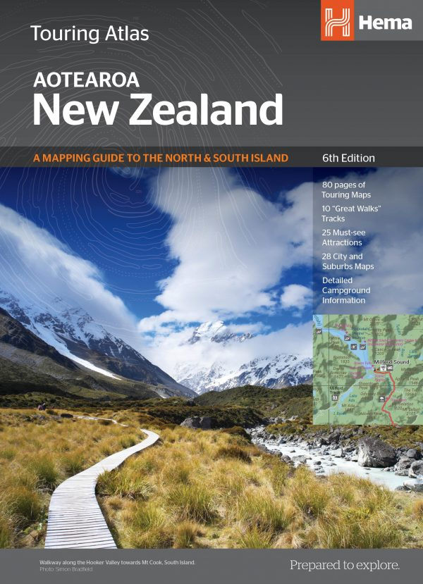 New Zealand Touring Atlas - 6th Edition - Hema