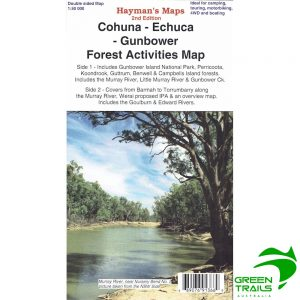 Cohuna Echuca Gunbower Forest Activities Map - Hayman's Maps