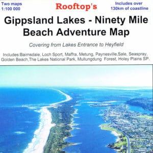 Gippsland Lakes Ninety Mile Beach Adventure Map