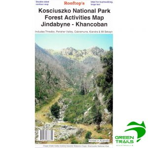 Kosciuszko National Park Jindabyne Khancoban Forest Activities Map - Rooftop Maps