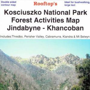 Kosciuszko National Park Jindabyne Khancoban Forest Activities Map