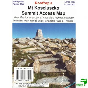 Mount Kosciuszko Summit Access Pocket Map
