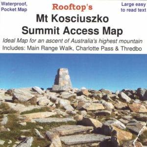 Mount Kosciuszko Summit Access Pocket Map