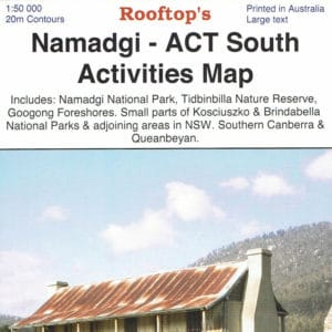 Namadgi - ACT South Activities Map