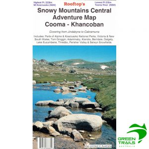 Snowy Mountains Central Cooma Khancoban Adventure Map - Rooftop Maps