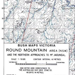 Round Mountain Area - Bush Maps Victoria - Stuart Brookes