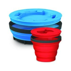 Sea to Summit X-Seal & Go Set Large Mug and Bowl 285g Blue & Red