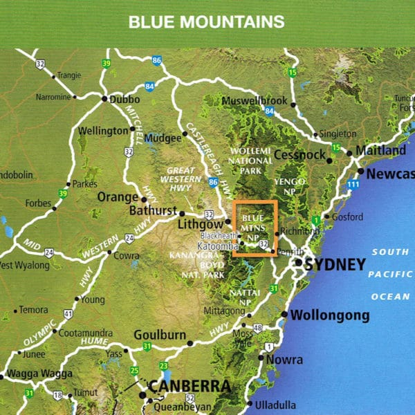 Blue Mountains North Outdoor Recreation Guide - Bushwalking - SV Maps Coverage
