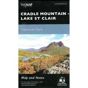 Cradle Mountain - Lake St Clair National Park Tasmania Map