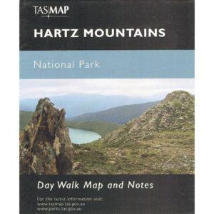 Hartz Mountains National Park Tasmania - Day Walk Map and Notes - Tasmap