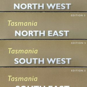 Tasmania North South West East Tourist Map Pack - Tasmap