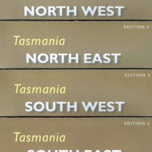 Tasmania North South West East Map Pack - Tasmap