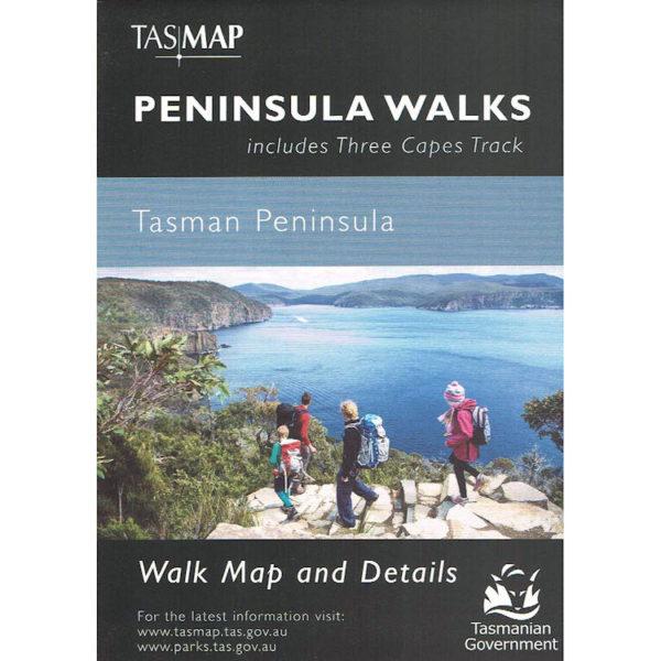 Peninsula Walks Tasman Peninsula Tasmania - Three Capes Track Walk Map