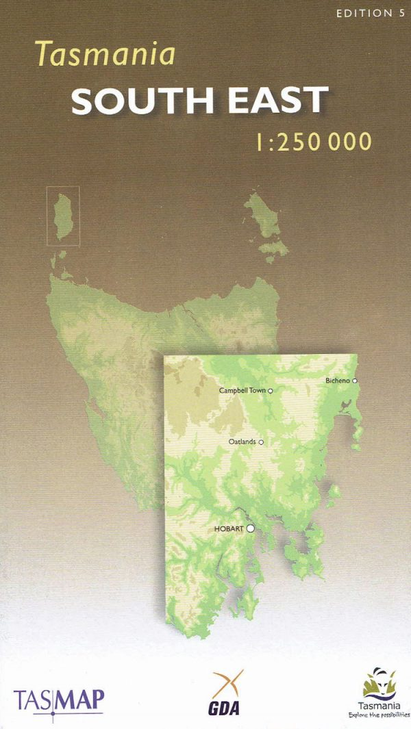 Tasmania South East Touring Map - Tasmap