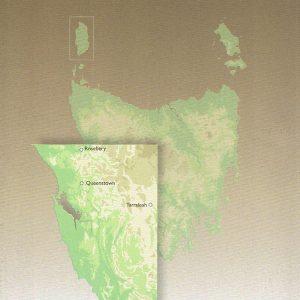 Tasmania South West Touring Map - Tasmap