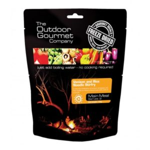 Venison and Rice Noodle Stirfry - Outdoor Gourmet Company