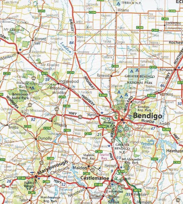 Victoria Australia Map.Victoria Touring Map Discover Australia Meridian Maps
